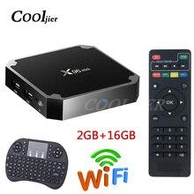 ТВ приставка X96 mini, Android 7,1, Wi Fi, 2 + 16 ГБ, четырехъядерный процессор Amlogic S905W, 1 + 8 Гб