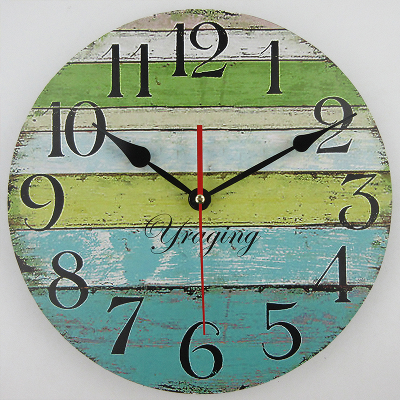 modern wood wall clock large home decor mdf vintage retro wall clocks big art watch horloge. Black Bedroom Furniture Sets. Home Design Ideas