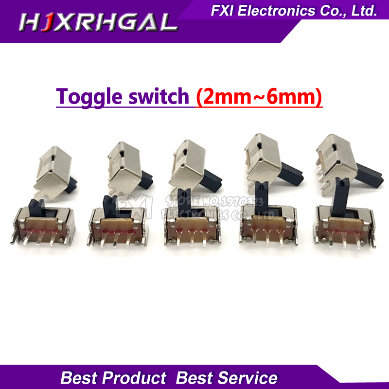 20pcs Toggle Switch SK12D07VG 2/3/4/5/6mm SK12D07VG3 SK12D07VG4 Stents Small Toggle Switch High Miniature Slide Switch Side Knob