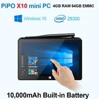 Mini PC intel PIPO X8 TV Smart Box Windows 8.1 Android 4.4 2 gb de ram 64 gb ssd intel atom z3736f quad core bluetooth4.0