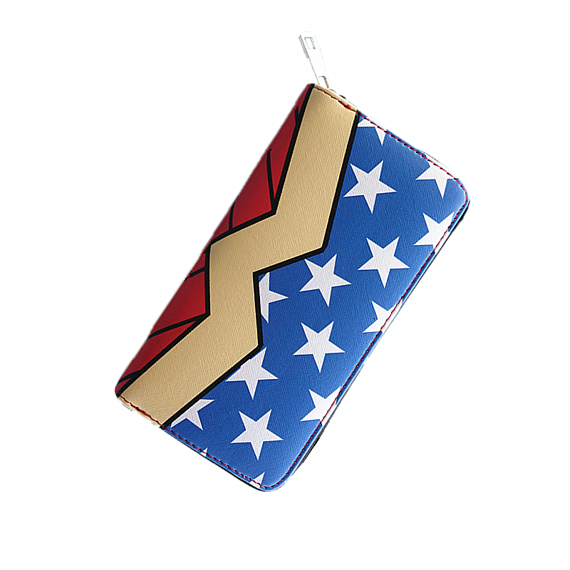 DC wonder woman Wallet Suicide squad Purse Super Hero Fashion Cartoon Wallets Personalized Anime Purses For Teens Girl Student dc wonder woman wallet suicide squad purse super hero fashion cartoon wallets personalized anime purses for teens girl student