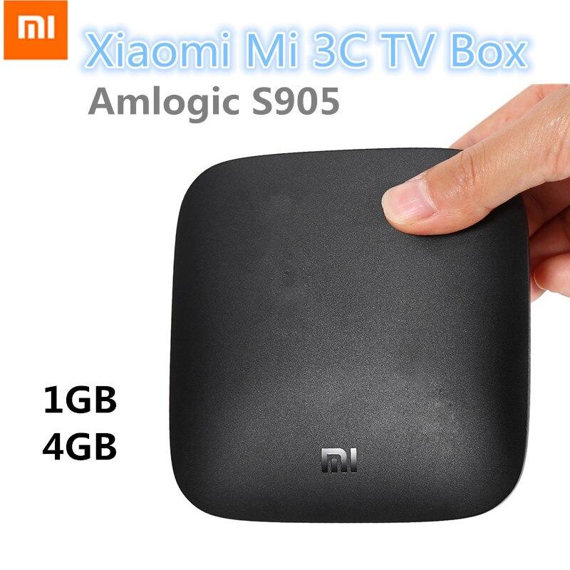 Original Xiaomi Mi 3C TV Box 4K 64bit Android 5.0 Media Player Quad Core Amlogic S905 Dolby DTS HDMI Set Top Box