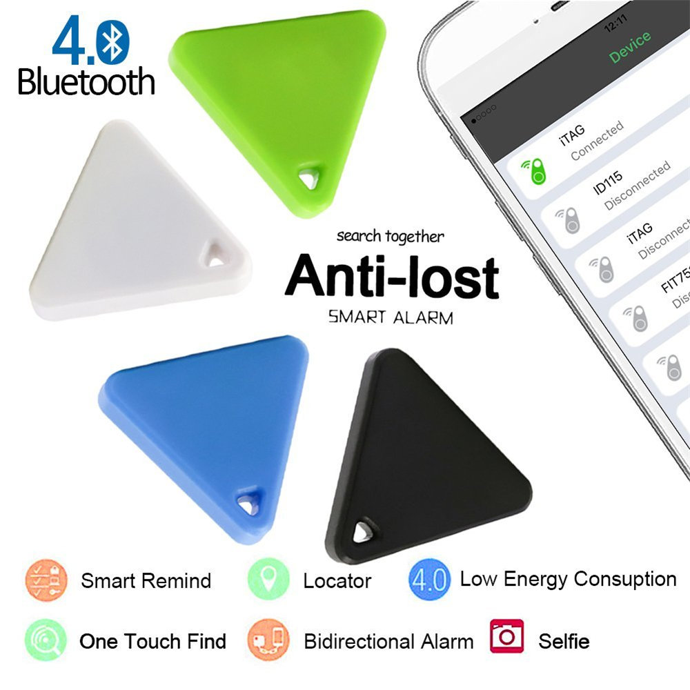 5 Colors Smart Wireless Bluetooth 4.0 ITAG Phone Tracker Alarm GPS Locator Key Finder Triangle Anti Lost Tracker Alarm