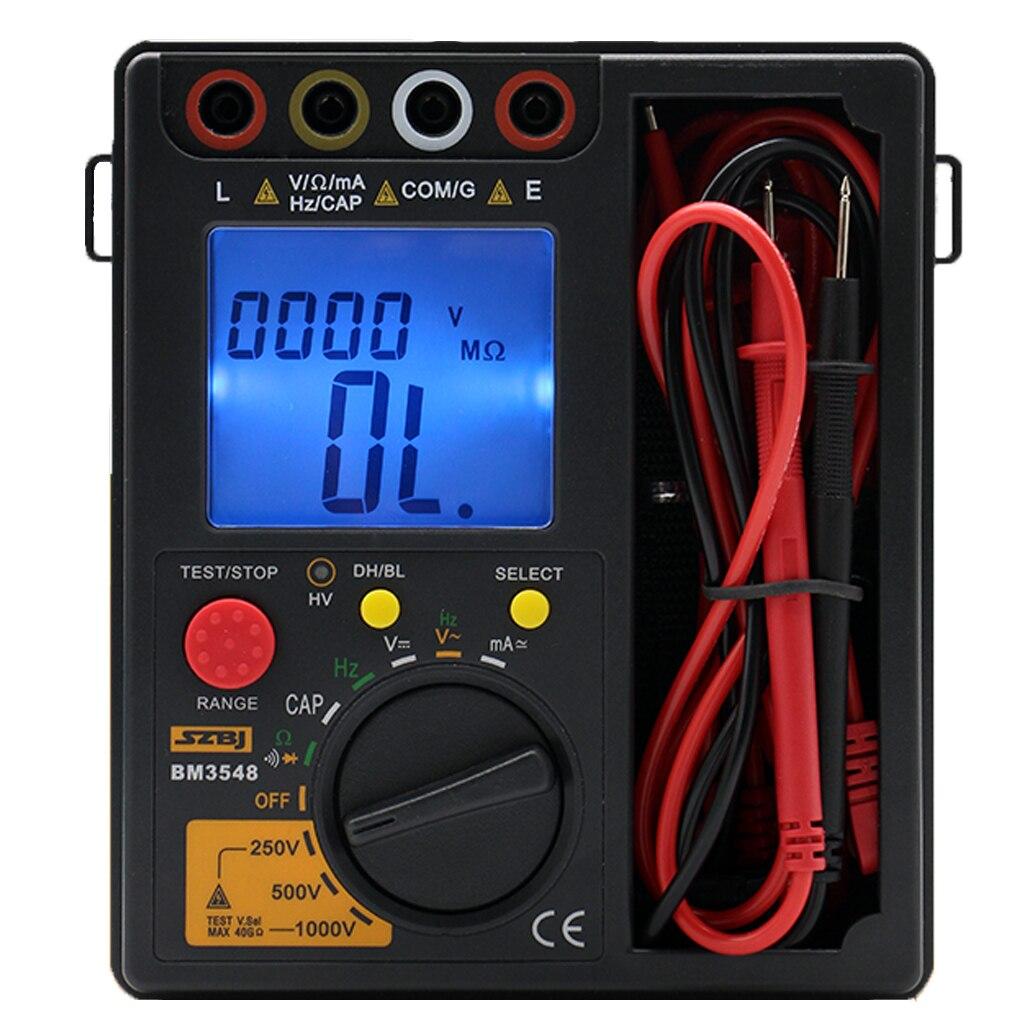 BM3548 1000V Resistance Meter 2 in 1 Digital Insulation Resistance Test meter digital multimeter megohmmeter megger