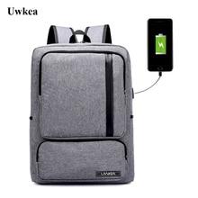 Uwkea New Arrival USB 대용량 여행용 배낭 디자인 15.6 인치 노트북에 적합