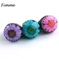 Original Wooden Ring Vintage Jewelry Handmade Resin Wood Beautiful Flower Scenery World Unique Ring For Women