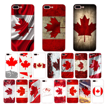 Canada flag art retro pattern Soft silicone mobile phone cover for iphone 5 6 7 8 6s plus case 5s se x xr xs max Cell shell Capa