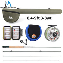 Maximumcatch Extreme 8/9FT 3-8WT Medium-fast Carbon Fiber Fly Rod with Graphite Reel & Fly Line&Tackle Box Triangle Tube(China)