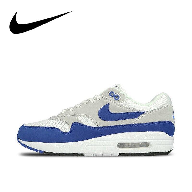 Chaussures de course Nike AIR MAX 1 authentiques pour hommes Sport chaussures de Sport confortables en plein AIR chaussures de Designer athlétique 908375-104