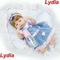 """16 """"40 cm silicone realista boneca reborn baby doll toys corpo de pano do bebê-nomeado como lydia bebe reborn doll menina bonecas brinquedos"""