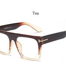 37d811a59 2019 نظارات المتضخم نظارات نسائية إطار مربع الكمبيوتر نظارات كبيرة الإطار  الرجال خمر النظارات السوداء إطار