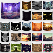 цена на Unicorn tapestry forest moon  wall hanging tapestry home decoration large rectangle bedroom wall tapestry