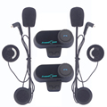 2x bt bluetooth intercomunicador del casco kit universal moto interphone auricular pantalla lcd fm radio motocicleta casco auricular bluetooth