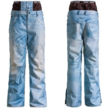 2016 winter outdoor snowboard pants jean denim ski pants mens snow pants waterproof pantalon ski homme