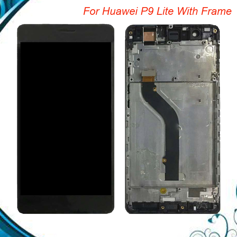5.2 For Huawei P9 Lite LCD Display With Touch Screen Digitizer Assembly VNS L21 VNS DL00 VNS L23 with Frame IN Stock