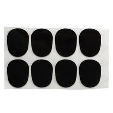 8 Patches Pads Cushions Nozzle for Alto Saxophone 0.8mm Black