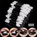 50 pçs/set Esponja Aplicador Da Sombra Profissional Double Ended Maquiagem Suprimentos Portátil Escovas Ferramentas de Cosméticos Da Sombra de Olho