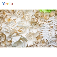 Yeele Blossom White Flowers Handmade Paper Cutting Floral Baby Photography Backdrops Photographic Backgrounds For Photos Studio