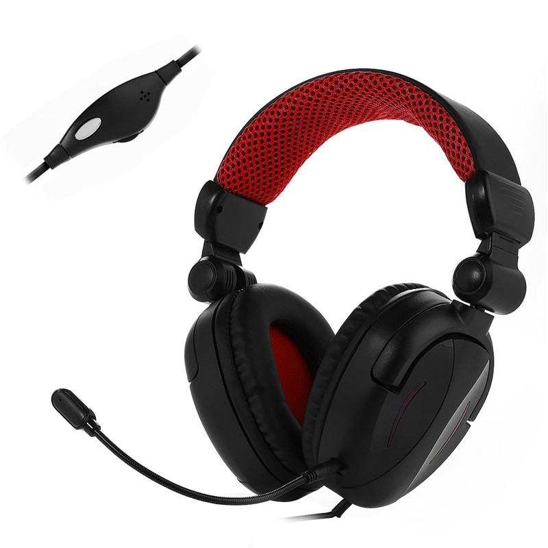 badasheng BDS-363P for PS4/Xbox ONE/Laptop Mobile Phones Headband Headset 3.5mm Gaming Headphone with Microphone