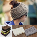 Mulheres Trecho de malha Torção Turbante Cabeça Da Menina Do Cabelo Banda Cabeça Esporte Winter Warmer Envoltório Headwear 11 Cores
