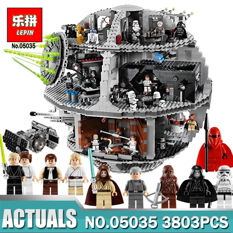 Lepin 05035 Star Set Wars Death Star 3804pcs Building Block Bricks Toys Kits Compatible with LegoN 10188 Children Educational 3804pcs star wars 05035 death star lepin model building wars block bricks toys kits compatible 10188 diy gift