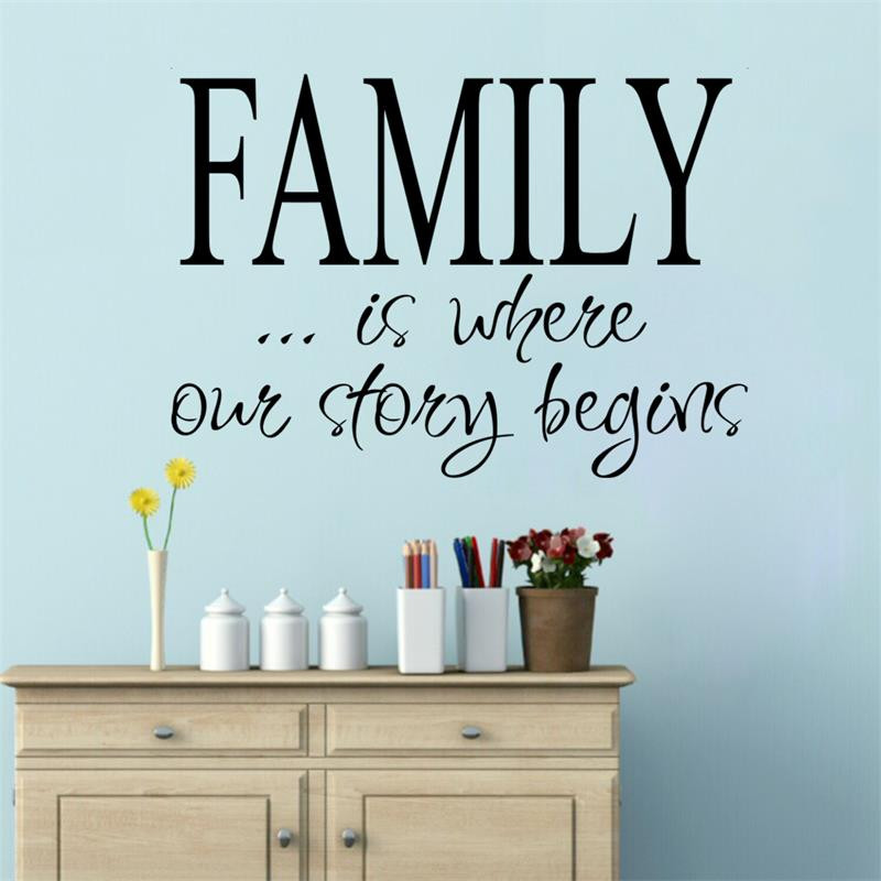 Life Quote Family Is Where Our Story Begins Vinly Wall Stickers Children S Room Decor Wedding Decoration Home In From