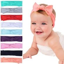 New Adorable Boho Newborn Toddler Headband Ribbon Elastic Baby Headdress Kids Hair Band Girl Bow Knot