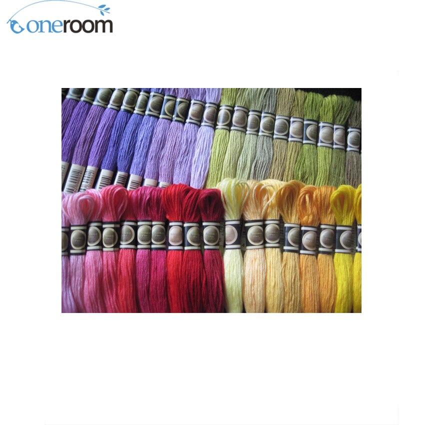 Noneroom CXC Threads Similar DMC 447 Pieces Embroidery Cross Stitch Floss Thread 6 Strand Add ...