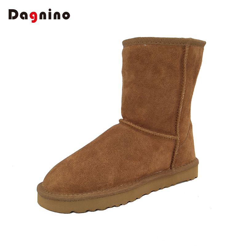 DAGNINO Hot Original Brand Australia Ankle Botas High Quality Women Winter Warm Genuine Leather Snow Boots Plus Shoes Feminina