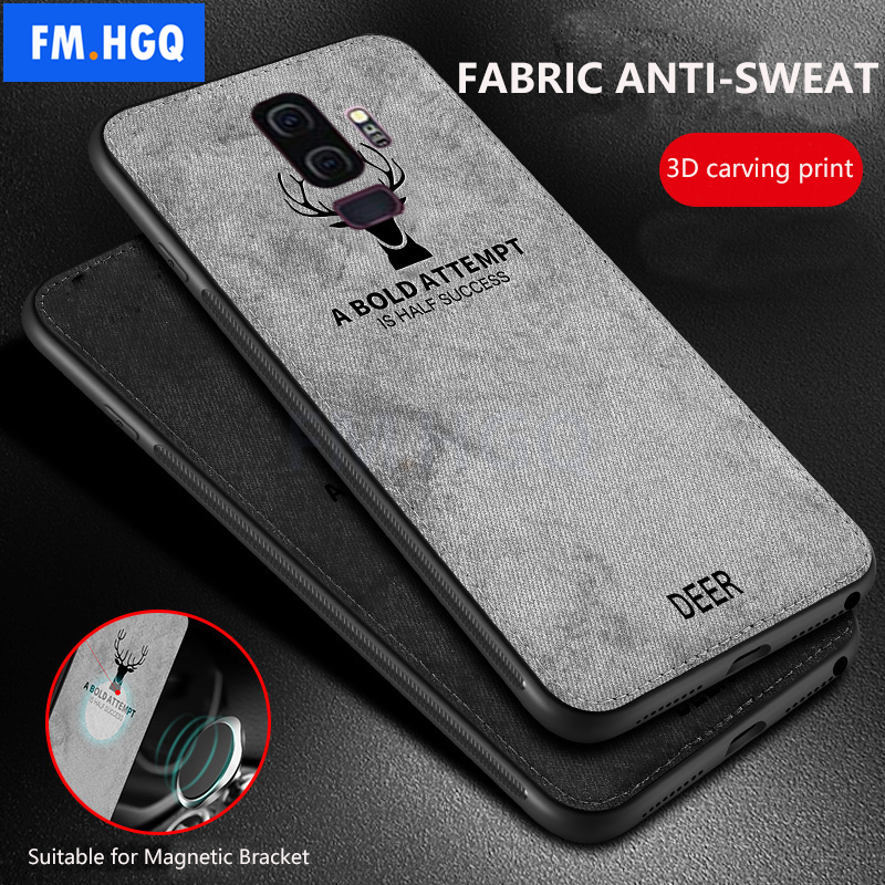 Cloth Texture Deer 3D Soft TPU Magnetic Car Case For Samsung Galaxy S9 S8 Built-in Magnet Plate Case For S10 S9 S8 Plus E CoverCloth Texture Deer 3D Soft TPU Magnetic Car Case For Samsung Galaxy S9 S8 Built-in Magnet Plate Case For S10 S9 S8 Plus E Cover