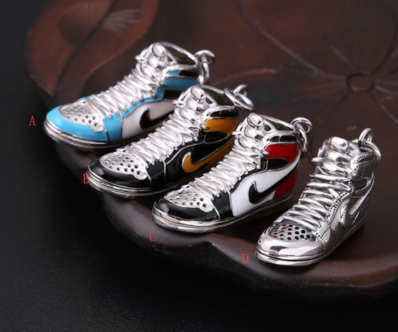 S925 Sterling Silver Jewelry Retro Sneakers four color Pendant (FGL)Pendants