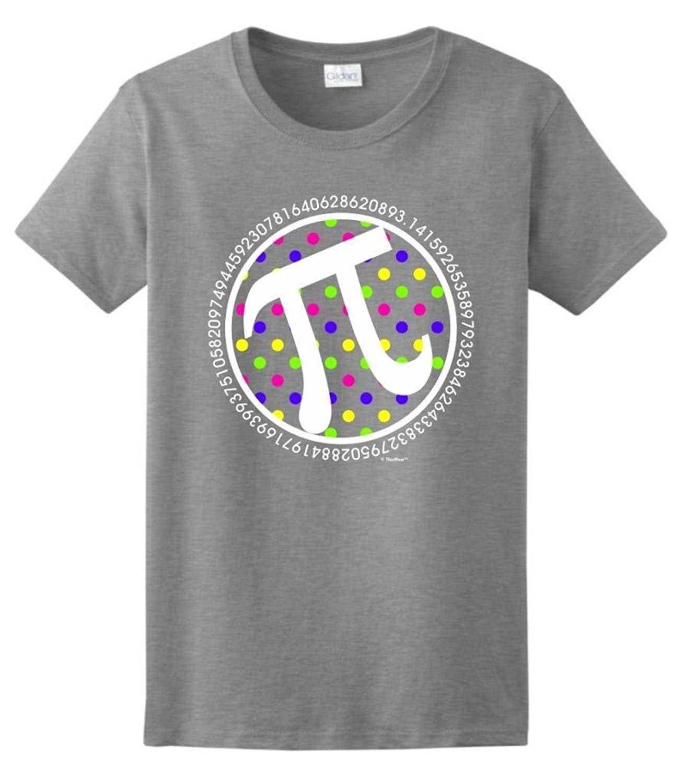 Gildan Preppy Polka Dots Pi, Pi Day March 14 Math Nerd Ladies T-Shirt