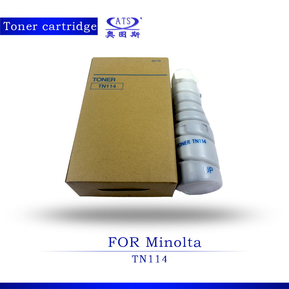 ФОТО 1PCS 413G Toner Photocopy machine Toner Cartridge For Minolta TN114 DI 152 183 162 210 211 7521 220 1611