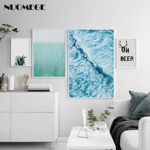 Nordic Landscape Decoration Picture Sea Wave Poster And Prints Pineapple Wall Art Canvas Painting For Living Room