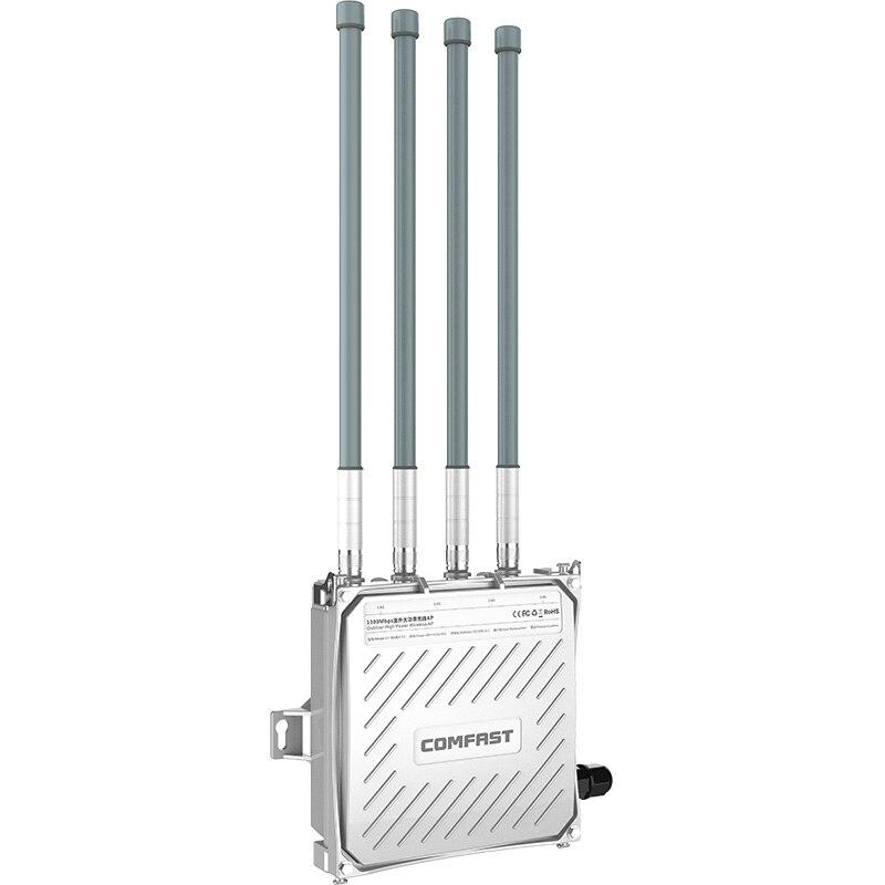500 mW haute puissance 5 Ghz double bande extérieure sans fil AP 1300 M gigabit wi-fi Ethernet POE wifi routeur 4 antenne externe base station