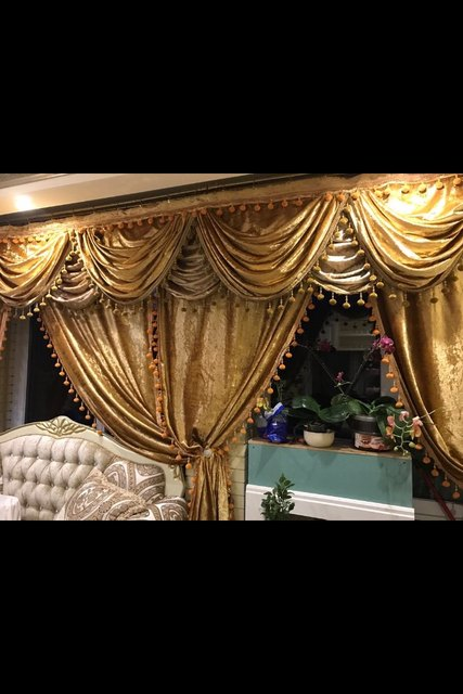 Perlé rideau Cantonnière cortinas Panneaux Rideaux Fenêtre ...
