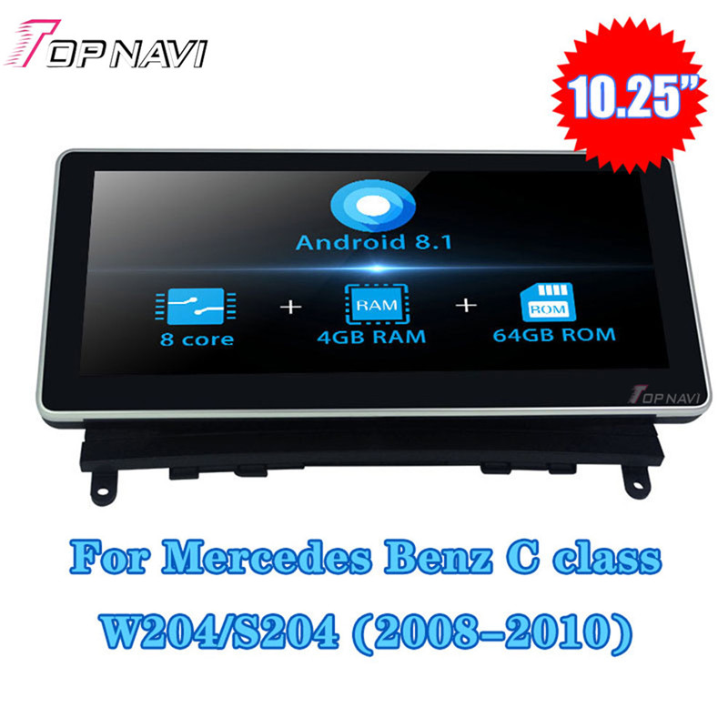10.25''<font><b>Android</b></font> 8.1 <font><b>Autoradio</b></font> Car Radio For <font><b>Mercedes</b></font> Benz C class CLK <font><b>W204</b></font> S204 2008-2010 Stereo GPS Navigation Multimedia player image