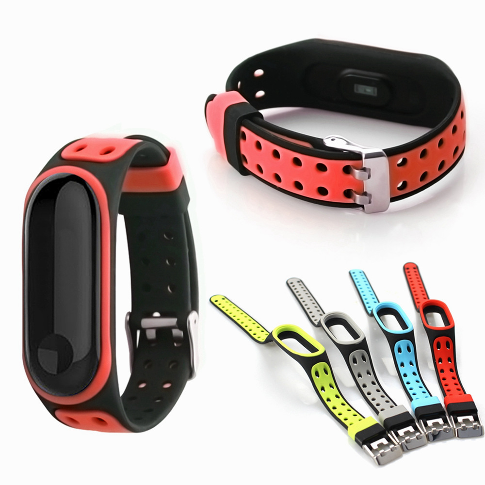 For Mi Band 4 Strap Sport Silicone Watch Wrist Bracelet Miband4 Replacement Wriststrap Metal Buckle Bands For Xiaomi Mi Band 3