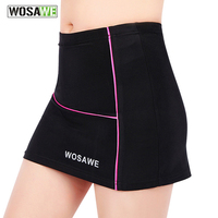 WOSAWE 2016 New Style Women Riding Bike Summer Shorts Skirt 3D Gel Padded Breathable Bicycle Cycling