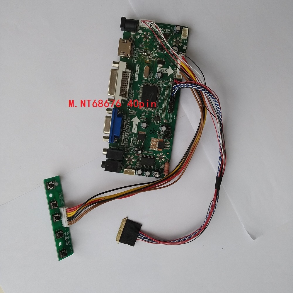 Kit For B140XW01 V2 1366X768 LCD LED Panel Screen Controller board 14 LVDS 40pin DIY 2019