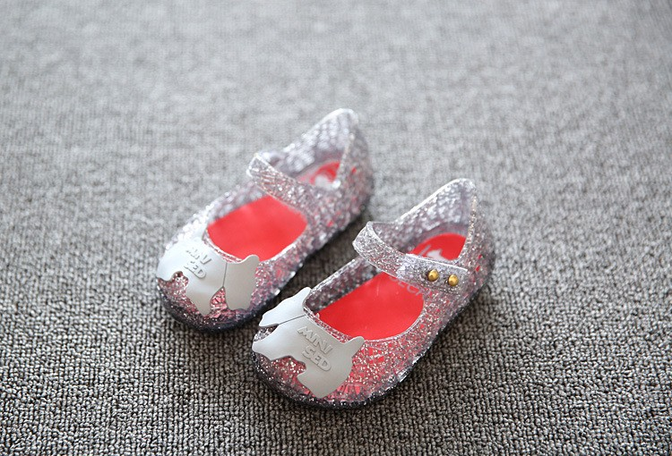 17 new fashion girls shoes Bow jelly sandals female child soft outsole princess shoes open toe shoes kids sandals baby shoes 6