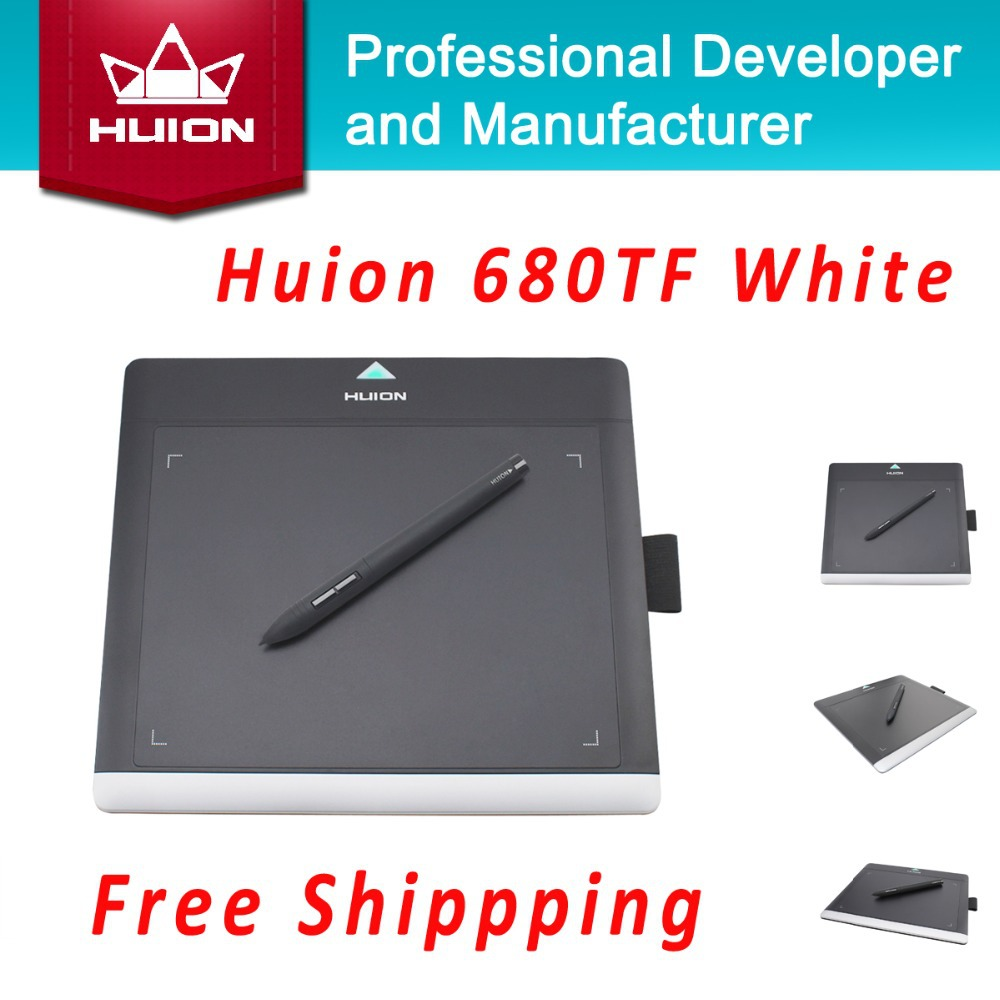 """Prix pour Promotion huion nouveau 680tf 8 """"220rps numérique graphique stylo comprimés professionnel signature pad avec microsd carte enfants planches à dessin"""