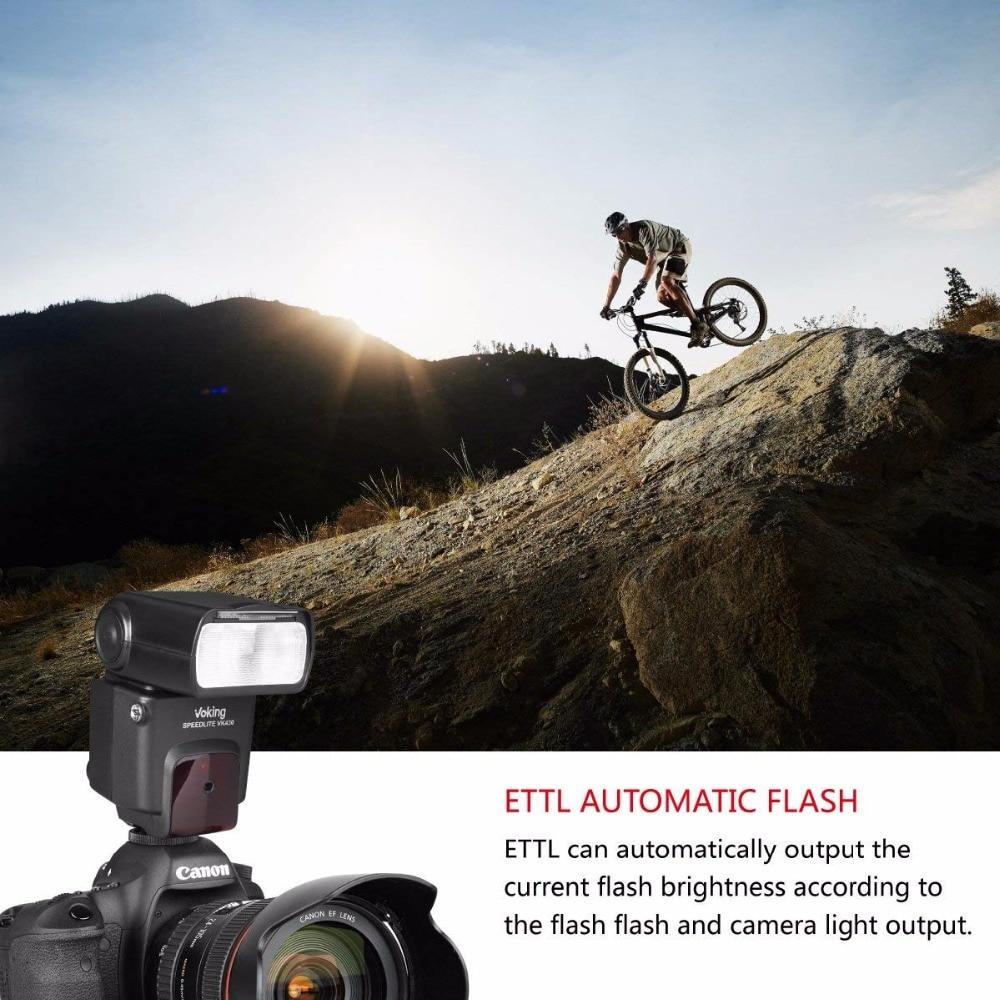 Voking VK430 E-TTL ÉCRAN LCD Speedlite Chaussure Flash intégré pour Canon EOS 70D 77D 80D Rebelles T7i T6i T6s T6 T5i T5 T4i T3i SL2 - 5