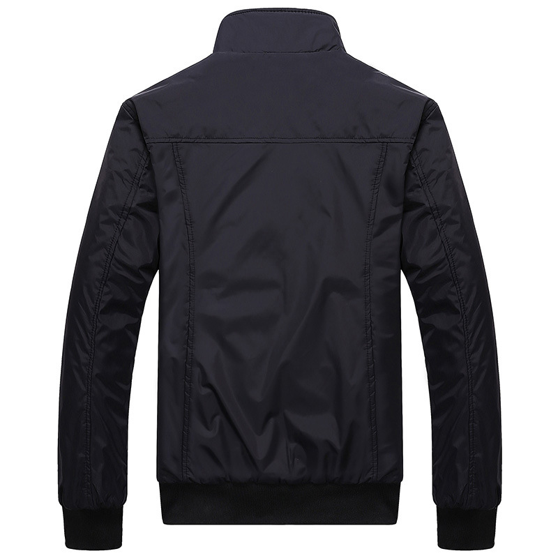 Mens Sportswear Slim Jacket Casual Coats Solid Color Stand Collar 7