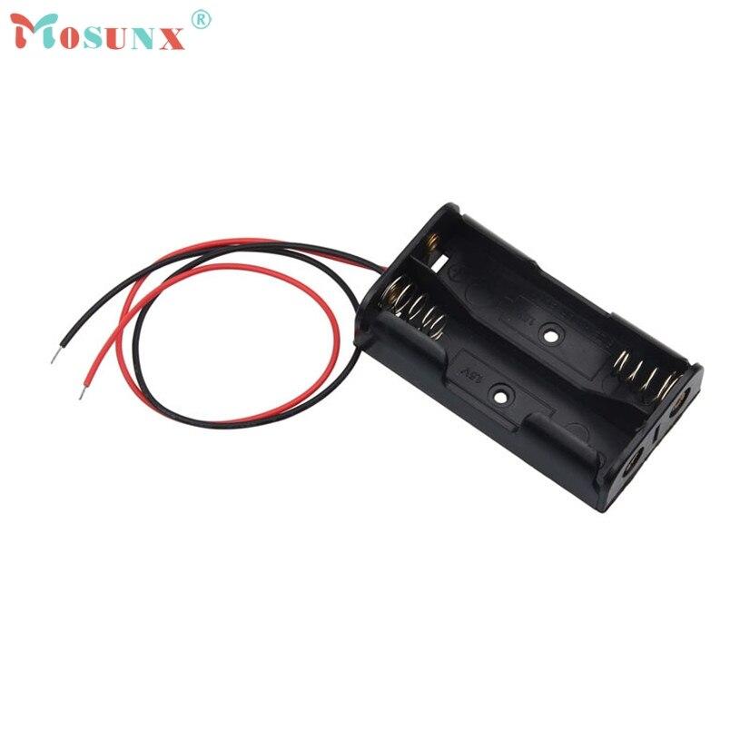 Mosunx 1pcs AA Power Battery Storage Case Plastic Box Holder With 2 Slots recargable Sept21 Drop Shipping MotherLander