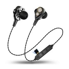 Bluetooth Earphone Wireless bluetooth headset with 4 Speakers Double Moving Ring 6D Surround earphone for xiaomi iphone Samsung