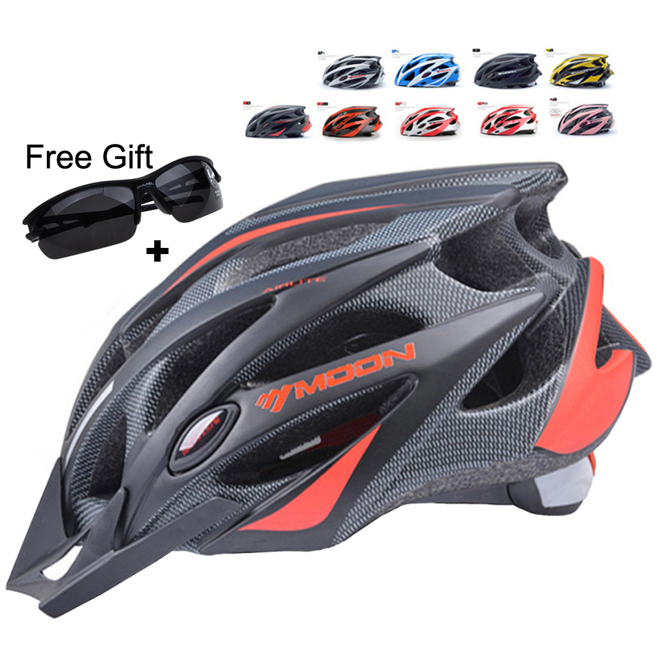 MOON Cycling Helmet Ultralight Bicycle Helmet In-mold MTB Bike Helmet Casco Ciclismo Road Mountain Helmet moon upgrade cycling helmet road mountain mtb bike bicycle helmet with insect net 52 64cm casco ciclismo