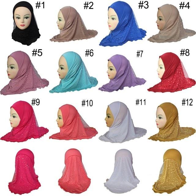 Baby Headdress Muslim Girl Turban Mesh Hat Islamic Wedding Turban Cap  Turkey Fashion Baby Headdress 80f15cfd54d