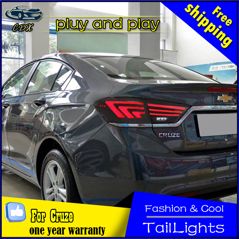 Cdx car styling tail lamp for cruze 2015-2016 tail lights led tail light rear lamp led drl+brake+park
