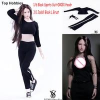 VIMI VS024 1/6 Escala Figura de Ação Roupas & Sapatas de Lona do Sexo Feminino Sportswear Terno Para 12